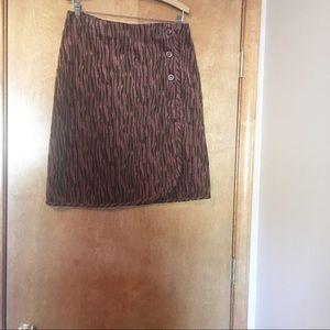 VTG 90s Central Falls Sz 10 Corduroy Wrap Skirt